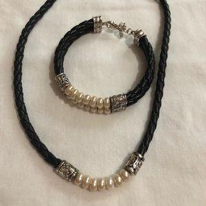 Brighton pearl necklace & bracelet set